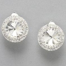 Clip On Earrings in Silver at PromDressShop.com