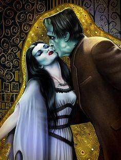 Poison Nightmares - johnny-dynamo: The Kiss by Elisabetha Raineri . Herman Munster, Munsters Tv Show, The Munsters, Munsters House, Dark Fantasy, Fantasy Art, Fantasy Fiction, Lily Munster, Yvonne De Carlo