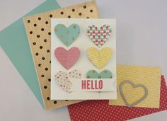 Found this on stampinup.com.  Like the heart card to copy.