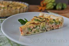 Torta salata al salmone e zucchine | Status mamma