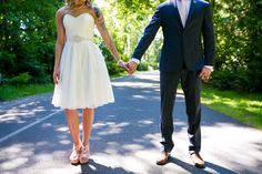 Bride and Groom holding hands - Tacoma Wedding Photography