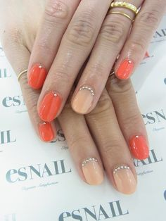 Juicy slice of orange nails//