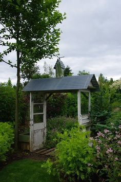 Doors with tin roof arbor