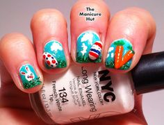 3D Easter Egg and Bunny Nails