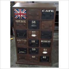 102cm Industrial Inspired Multi- Drawer Cabinet Phil Bee Interiors. $745