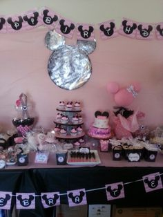 Minnie Mouse candy buffet