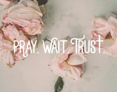 """Pray wait trust for the man God is preparing for you. The Godly man that one day will say """"Will you marry me? Faith Quotes, Pray Quotes, Answered Prayer Quotes, Trust In God Quotes, Trust Gods Timing, Good Bible Quotes, 3 Word Quotes, Sad Sayings, Godly Quotes"""