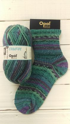 Excited to share this item from my #etsy shop: Opal Comedy sockyarn turquoise teal purple colours  4ply yarn 425 meter (465 yds) 100 g shade 9835