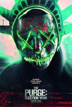 """La locandina USA di """"The Purge: Election Year"""" (2016) #film #horror #movie"""