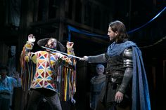 THE HUNCHBACK OF NOTRE DAME at Paper Mill Playhouse Photos by Jerry Dalia -- Andrew Samonsky as Captain Phoebus de Martin and Erik Liberman as Clopin Trouillefou