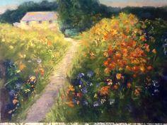 Monet 's Garden #2   9x12 pastel $150 unframed