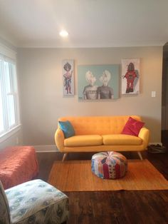 The front room in my Five Points house. It's a work in progress.