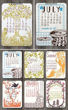 2012 Calendar Design Old School Stationers