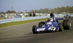 Chris Amon, Tyrrell, US GP Practice, Watkins Glen, 1973.