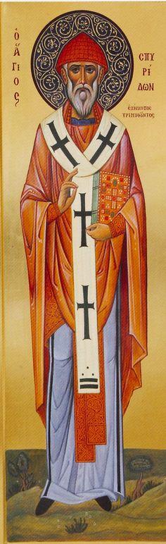 Αγ.Σπυριδων Ο Θαυματουργος, Επισκοπος Τριμυθουντος Κυπρου (270 - 350)___dec 12 Religious Icons, Religious Art, Religious Paintings, Z Photo, Byzantine Icons, Orthodox Icons, Saints, Christian Art, Corfu