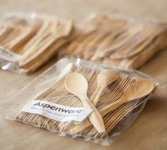 forks, wooden cutleri, spoons, aspenwar, tea spoon