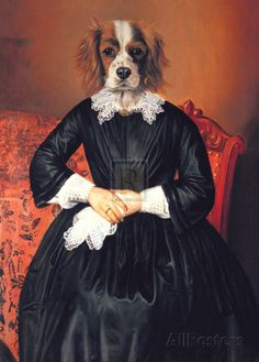 Ancestral Canines II Kunstdrukj Therry poncelet