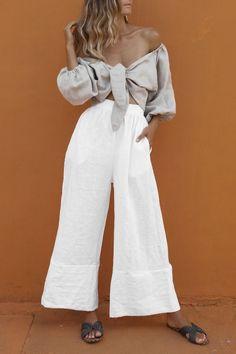 Filles Enfants plissé Palazzo Jambe Large Crop soyeux Pantalon Casual Pants Bottoms