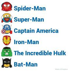 Super hero emojis