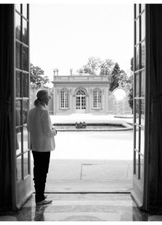 Who knew Lagerfeld was a fashion photographer along with everything else? He shot these self-portraits just for us at Versailles.