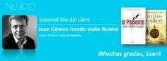 Con motivo del Día del libro, los fans de Nubico tuvieron la ocasión de hablar con Juan Gómez-Jurado a través de nuestro perfil de Facebook. Estas fueron las preguntas de los usuarios y sus respuestas: https://www.facebook.com/NubicoEbook/app_128953167177144