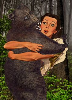 Impossible love between a woman and a bear #animatedgif - Carefully selected by GORGONIA www.gorgonia.it