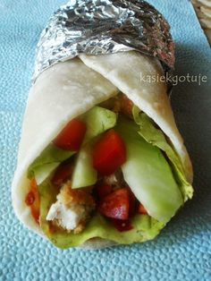 KasiekGotuje: Tortilla z kurczakiem i warzywami