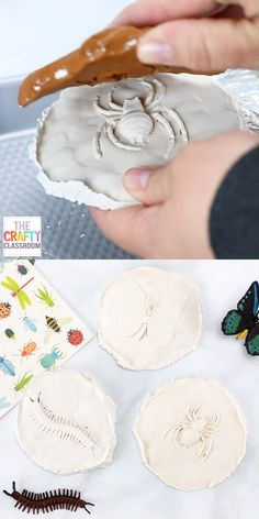DIY fossils for kids Why not spend the day making these amazingly realistic fossils with your kids! All you need is a little tinfo Clay Crafts For Kids, Diy For Kids, Diy And Crafts, Decor Crafts, Fun Projects For Kids, Art Projects, Digger Birthday Parties, Paris Crafts, Plaster Crafts