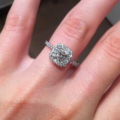 My lovely ring :-) #engaged #ring Hearts on Fire - transcend dream engagement ring