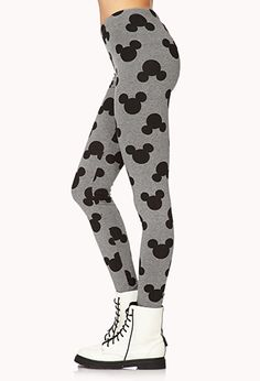 Mickey Mouse Printed Leggings | FOREVER 21 - 2000050362