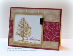 CTMH 'Always Grateful' stamp set with Sangria & White Pines papers. The tree in this set is bare but you can easily add some leaves with a small sponge and inks! www.facebook.com/dawn.montagano