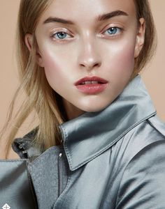 Marcelina Sowa by Jamie Nelson for Stylist London October 15th, 2014 a dewy-pinky-fresh look