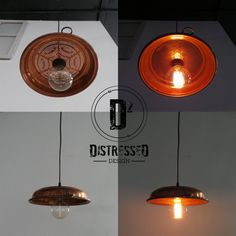 Copper Colander Pendant Light by DesignDistressed on Etsy, $125.00