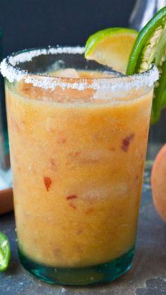 Peach Jalapeno Margaritas