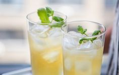 In the Kitchen: Savor the Season with @Ginger Arebalo De Laurentiis Apple and Mint Punch #recipe #delicious