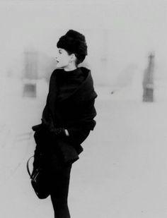 Mystère de Paris, 1955. Anne Sainte-Marie photographed by Henry Clarke for Vogue.