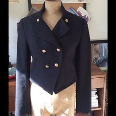 Juicy Couture Military JacketSALE Juicy Couture wool military style jacket.  Very cute with gold buttons. Excellent condition. Size Petite. Juicy Couture Jackets & Coats
