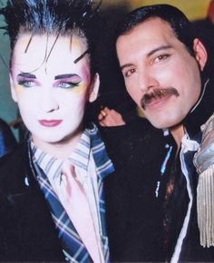 Freddie Mercury and Boy George