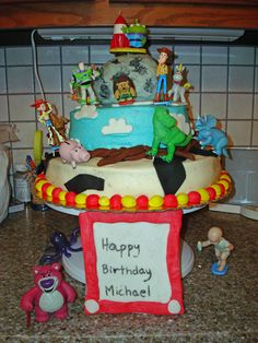 My son's 3rd birthday cake.  He loves Toy Story!