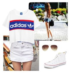 """""""#35"""" by kingsakinga ❤ liked on Polyvore featuring QNIGIRLS, Converse, adidas Originals and Forever 21"""