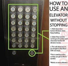 How to skip floors on an elevator