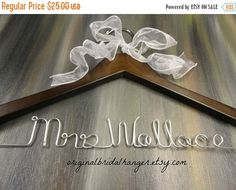 SALE 20% OFF Name Hangers For Weddings by OriginalBridalHanger
