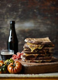 A Grilled Cheese Sandwich with Sicilian Tomatoes and Root Beer - id 249239 : Holly Pickering  : offset #Food #Photography