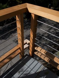 Deck Railing Design,cables at the corner