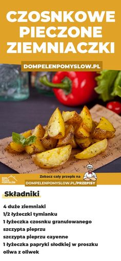 Polish Recipes, Recipies, Dinner Recipes, Lunch Box, Food And Drink, Potatoes, Cooking Recipes, Yummy Food, Snacks