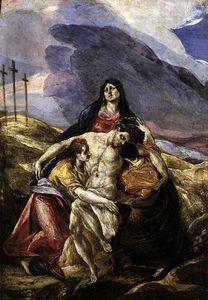 Pietà (The Lamentation of Christ) - (El Greco (Doménikos Theotokopoulos))