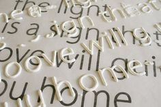 """Holy smokes.  This may be the best crafting tip of the month. """"print out the font you want and place wax paper over it. Trace letters with puffy paint, let dry, then use mod podge to secure letters to canvas, etc. Brilliant."""""""
