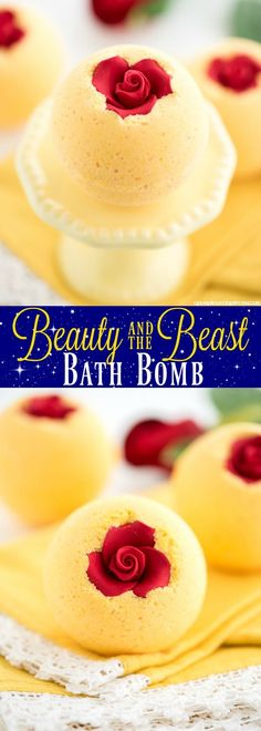 DIY Beauty and the Beast bath bomb – how to make bath bombs inspired by Beauty & the beast and the enchanted rose.