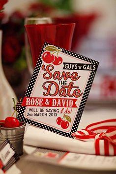 red black and white retro wedding invitations - Google Search