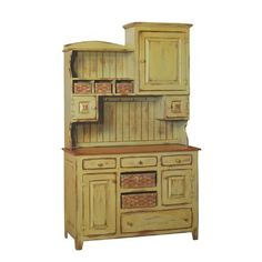 Amish Primitive Kitchen Hutch Farm House Pantry Cupboard Wood Country Furniture in Home & Garden, Kitchen, Dining & Bar, Kitchen Storage & Organization Antique Kitchen Cabinets, Antique Hutch, Kitchen Hutch, Kitchen Decor, Kitchen Pantry, Rustic Hutch, Dining Hutch, China Cabinets, Kitchen Art
